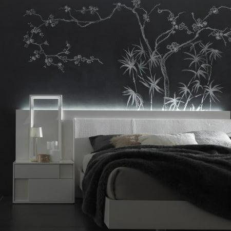 Nightfly Right 2 Drawer Nightstand - White