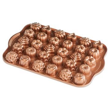 "NordicWare Bundt® Tea Cakes and Candies Pan, Cast Aluminum, Lifetime Warranty, 2.19 lbs, 2.5 Cup, 14.13""X 9.5"" X 1.13"""