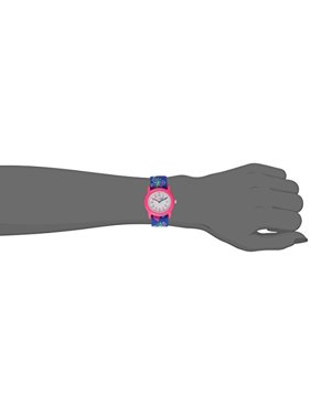 Kids' T89001 Hearts and Butterflies Watch with Elastic Fabric Strap