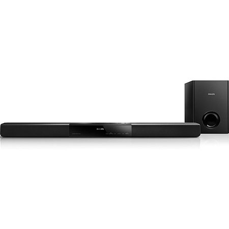 Philips HTL2160/F7 2.1-Channel 60W Bluetooth Soundbar with External Subwoofer, Refurbished