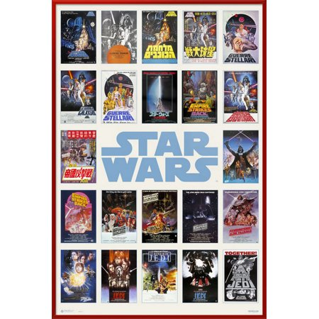 - Star Wars - Framed Movie Poster / Print (One Sheet Poster Collage) (Size: 24