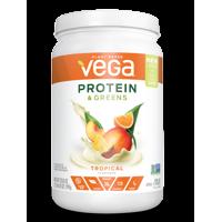 Vega Plant Protein & Greens Powder, Tropical, 20g Protein, 1.3lb, 20.8oz