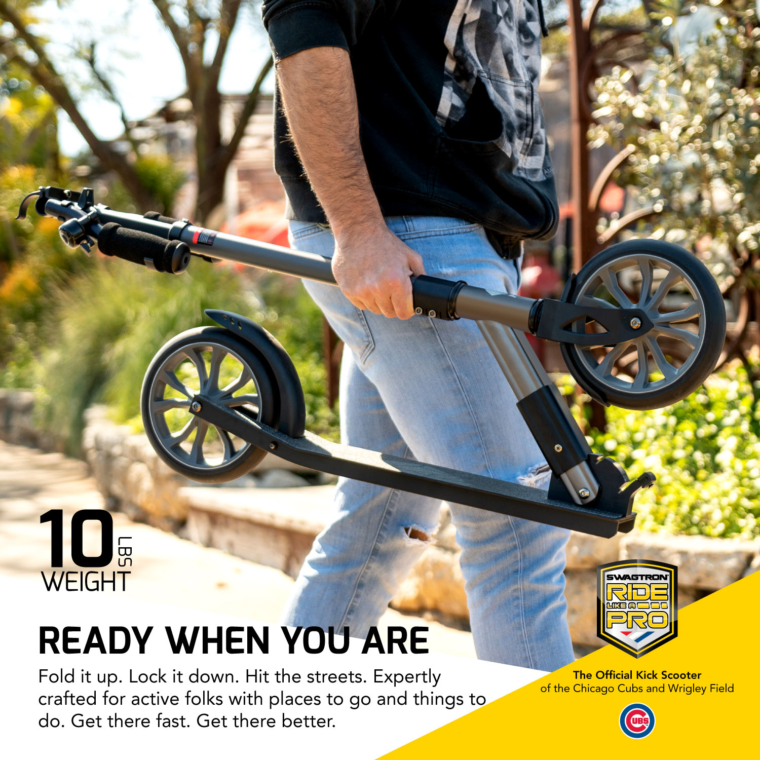 220LB Max Load Teens Foldable Swagtron K8 Titan Commuter Kick Scooter for Adults Lightweight w//ABEC-9 Wheel Bearings Height-Adjustable