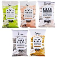 Epic Baked Pork Rinds - Variety Pack 2.5oz Pack: One Pack (5 Bags)
