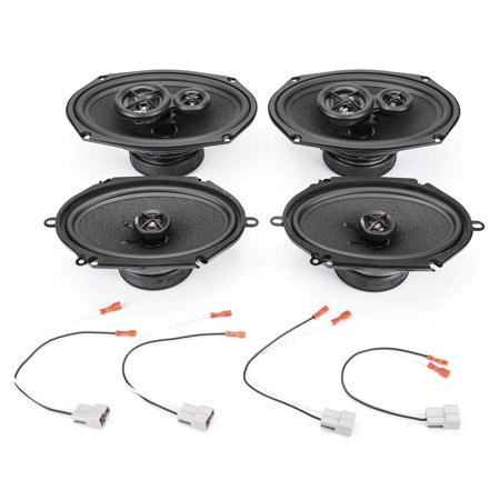 Mercury Speaker Adapter (1998-2002 Mercury Grand Marquis Complete Premium Factory Replacement Speaker Package by Skar Audio )