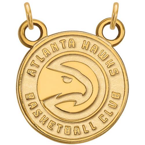 LogoArt NBA Atlanta Hawks 14kt Yellow Gold Small Pendant with Necklace