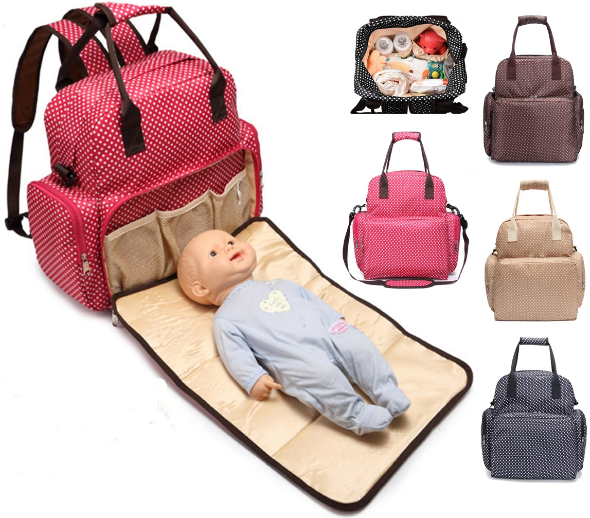 Fancynova All In One Diaper Bag Backpack Multifunction Waterproof Baby Ny For Mom Dad With Changing Pad Stroller Straps Large Capacity