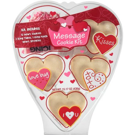 Create a Treat Valentines Message Cookie Decorating Kit, 15.17 oz