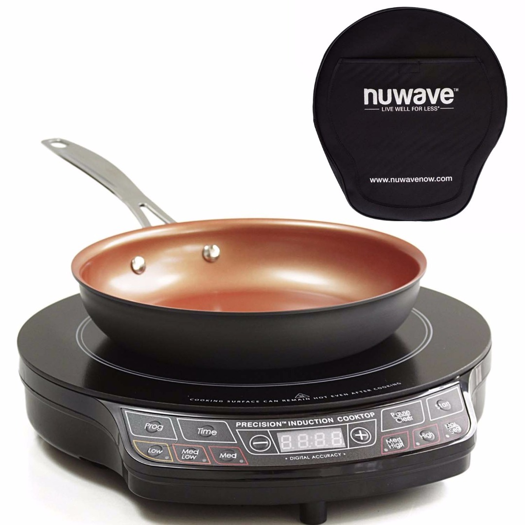 "NuWave Precison Induction Cooktop w/ 10.5"" Fry Pan & Storage Case"