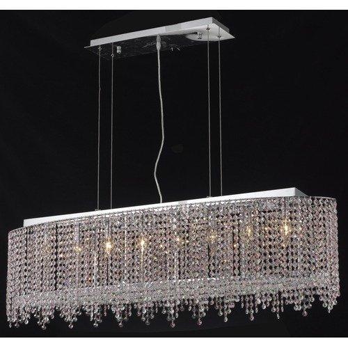 Moda Clear Crystal Chandelier w 8 Lights in Chrome (Royal Cut)