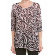 Women Small Cheetah Print Scoop Neck Knit Top S