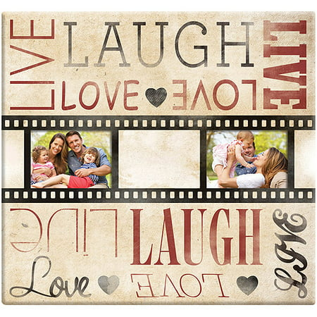 - Live Laugh Love Film Strip Post Bound Scrapbook, 12
