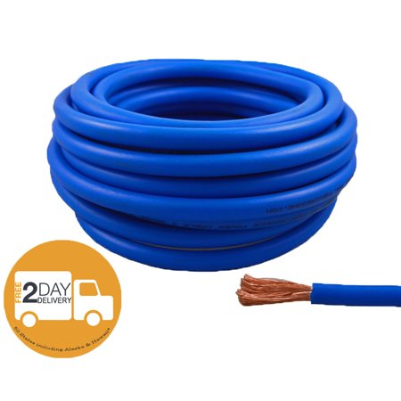 High Performance Wire - 4 Gauge 25 Feet High Performance Flexible Amp Power/Ground Cable 4 AWG Wire Blue
