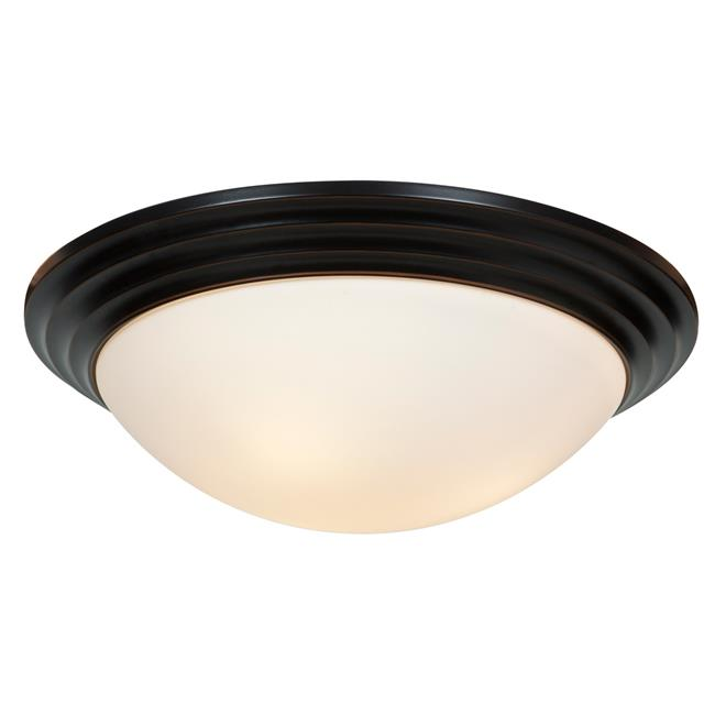 Access Lighting 20652LEDDLP-ORB-OPL 16 in. Strata LED Oil Rubbed Bronze Flush Mount Ceiling Light by Access Lighting