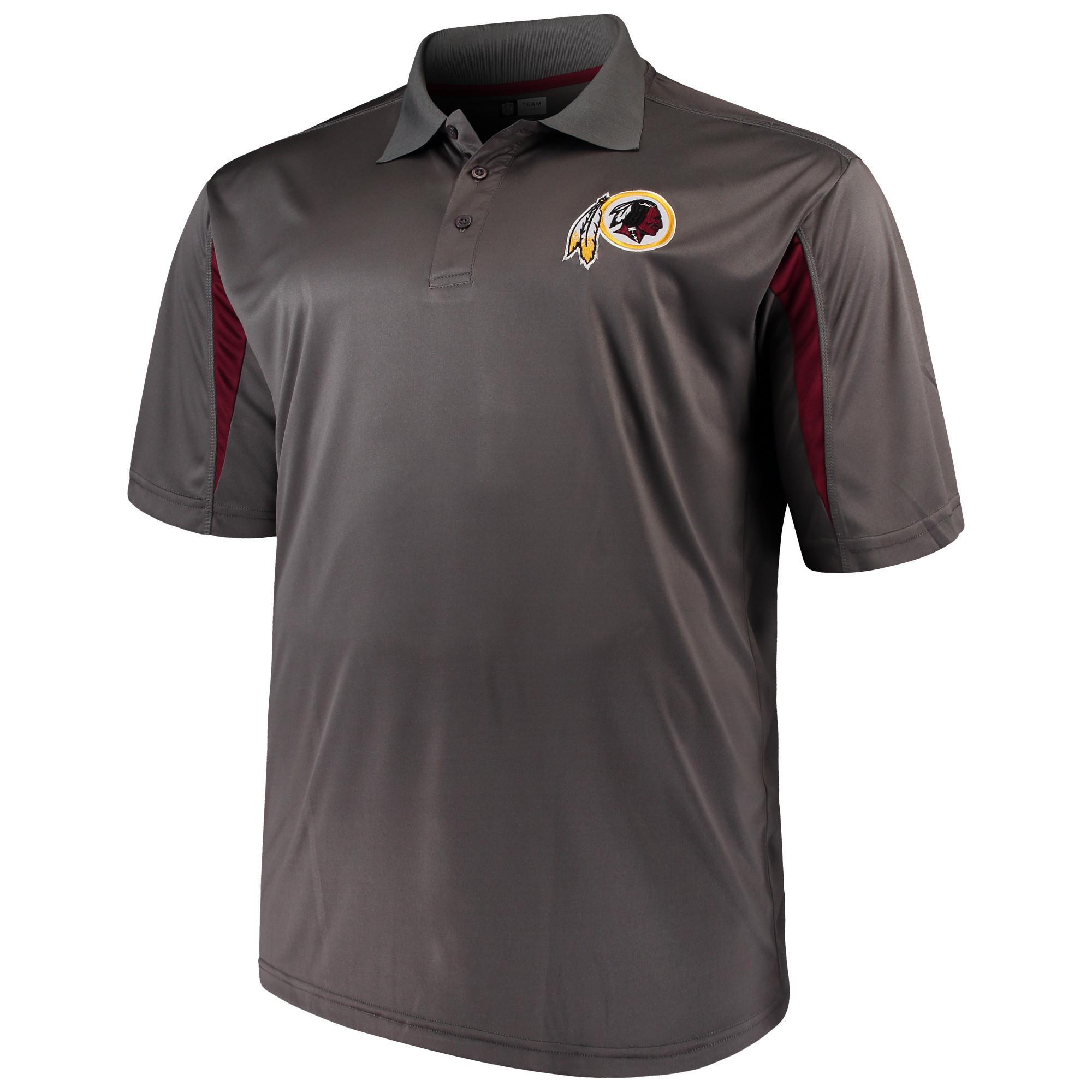 Men's Majestic Charcoal Washington Redskins Big & Tall Pieced Polo