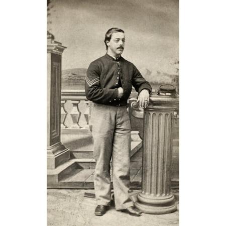 Civil War Union Soldier Noriginal Carte De Visite Photograph Of A Sargent In The