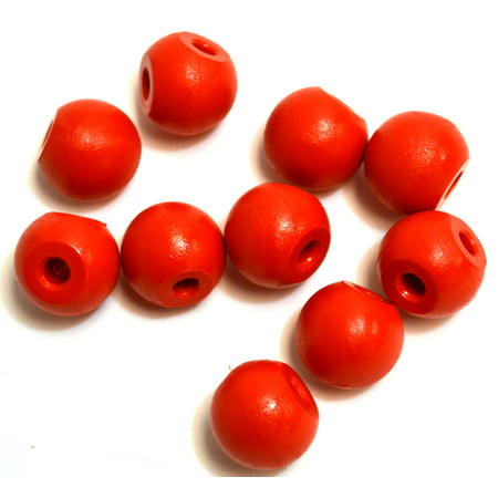 Eisco Labs Molecular Model Part; Red Ball; 2cm; 2 Holes at 90; Pk of 10 (Molecular Imaging)