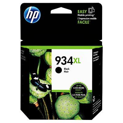 HP 934XL High Yield Black Original Ink Cartridge (Hp 21 Black Inkjet Print Cartridge C9351a)