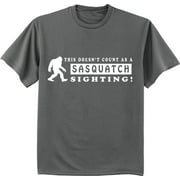 Funny Sasquatch t-shirt Big and Tall tee for men