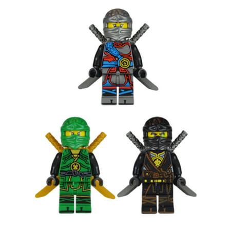 Ninjago Set of 20 Figures - Wooden Children Assembled Building Blocks Toys Gift - image 9 de 9