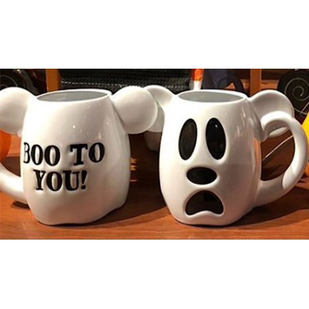 Disney Halloween Mickey Boo to You Ceramic Coffee Mug New - Disney Mickey Halloween Tickets
