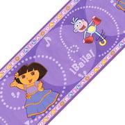 Brewster Home Fashions 12440350 Dora The Explorer Dance Baila Wall Paper Border Roll