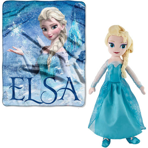 Choose Your Disney Blanket and Pillow Buddy- Frozen Elsa, Olaf, Minnie Mouse, Disney Princess