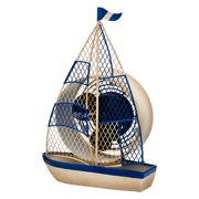 DecoFLAIR Table Fan Single-Speed Electric Circulating Fan, Sailboat Figurine Fan