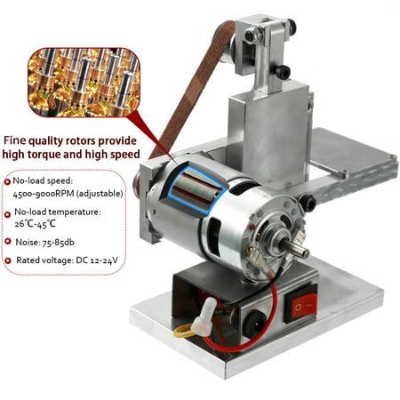 Multifunctional Grinder Mini Electric Belt Sander DIY Polishing Grinding Machine Cutter Edges Sharpener - image 5 of 7