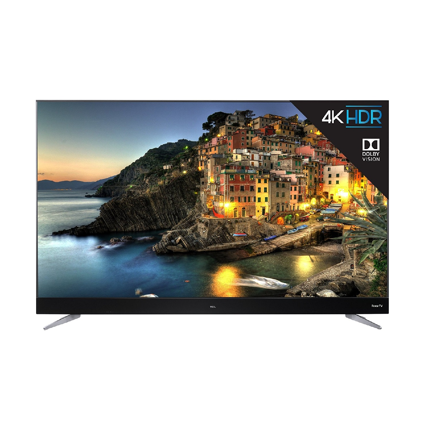 "TCL 55"" Class 4K (2160P) Dolby Vision HDR Roku Smart LED TV (55C807)"