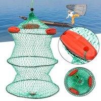 Foldable Fishing Bait Crab Net Mesh Trap Minnow Crawfish Shrimp Floating Cage