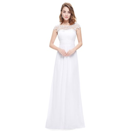 Ever-Pretty Womens Plus Size Formal Evening Ball Gown Bridesmaid Party  Dresses for Women 99933 White US22