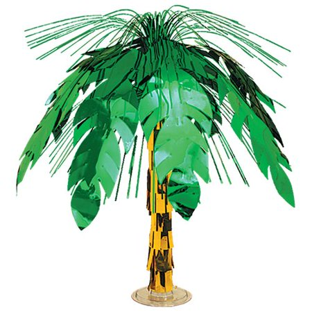 The Beistle Company Palm Tree Cascade Paper Disposable Centerpiece