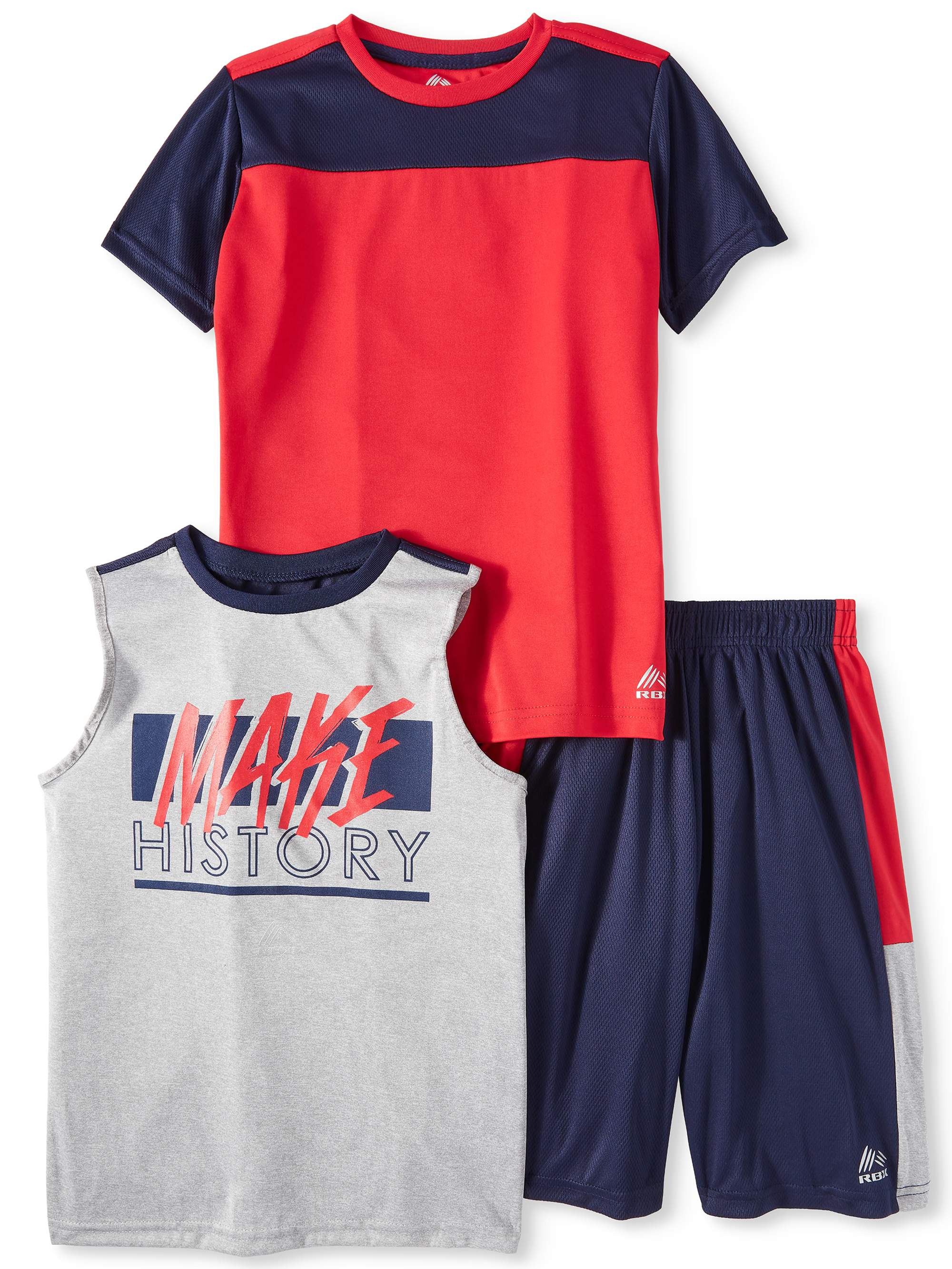 Tee, Graphic Muscle Tank and Short 3 Piece Set (Little Boys & Big Boys)