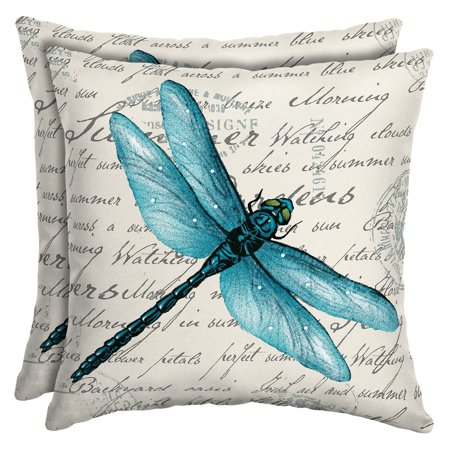 16 Throw Toss Pillow - Mainstays Dragonfly Outdoor Patio 16