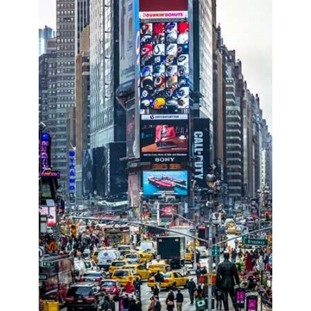 Commuters on busy Broadway in Ney York City near Times Square Poster Print by  Assaf (Stores Near Times Square)