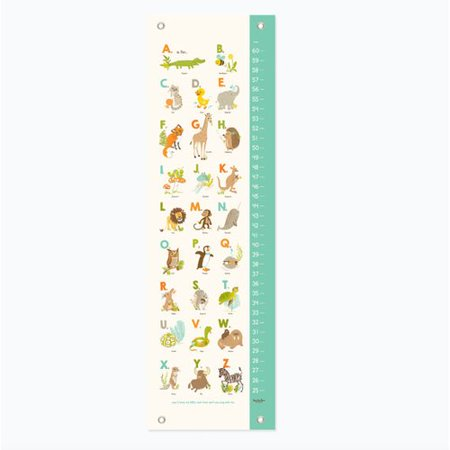 Sea Urchin Studio Alphabet Nursery Growth Chart