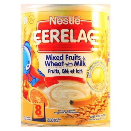 Nestle Cerelac, Mixed Fruits & Wheat with Milk, 14.1 Ounce Cans (Pack of (Ounces Of Milk For 4 Month Old)
