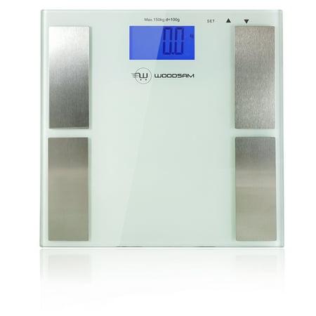 Woodsam  Personal Digital LCD Display Bathroom Body Fat Weight Scale