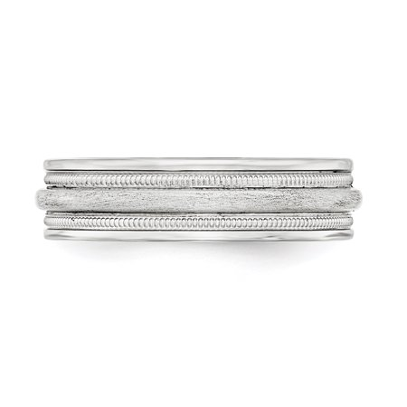925 Sterling Silver 7mm Brushed Wedding Ring Band Size 13 Fancy Classic Milgrain Fine Jewelry For Women Gifts For Her - image 3 of 8