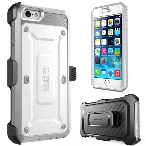 SUPCase Apple iPhone 6 Plus 5.5 inch Case - Unicorn Beetle Pro Series Full-body Hybrid Protective Cover with Built-in Screen Protector - White Gray