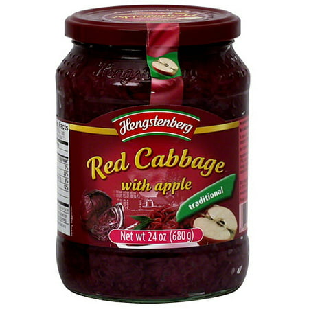 Hengstenberg Red Cabbage With Apple, 24 oz (Pack of (Best Cabbage For Coleslaw)