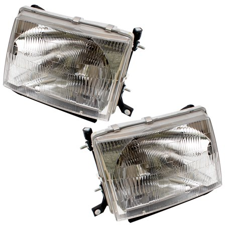 - BROCK Headlights Headlamps Driver and Passenger Replacements for Toyota Tacoma Pickup Truck 8115004090 8111004090