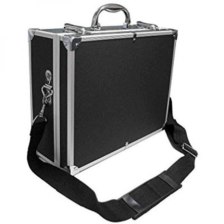 zeikos ze-hc18 deluxe small hard shell case with extra protected foam for cameras, camcorders, photo / video and photograpic equipment