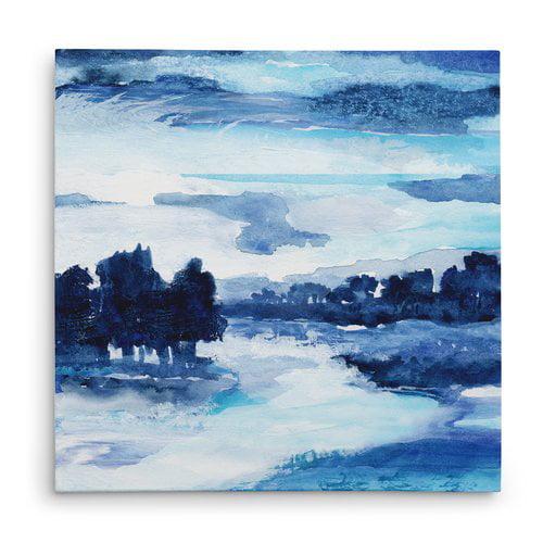 Ivy Bronx 'Indigo Land I' Oil Painting Print on Wrapped Canvas