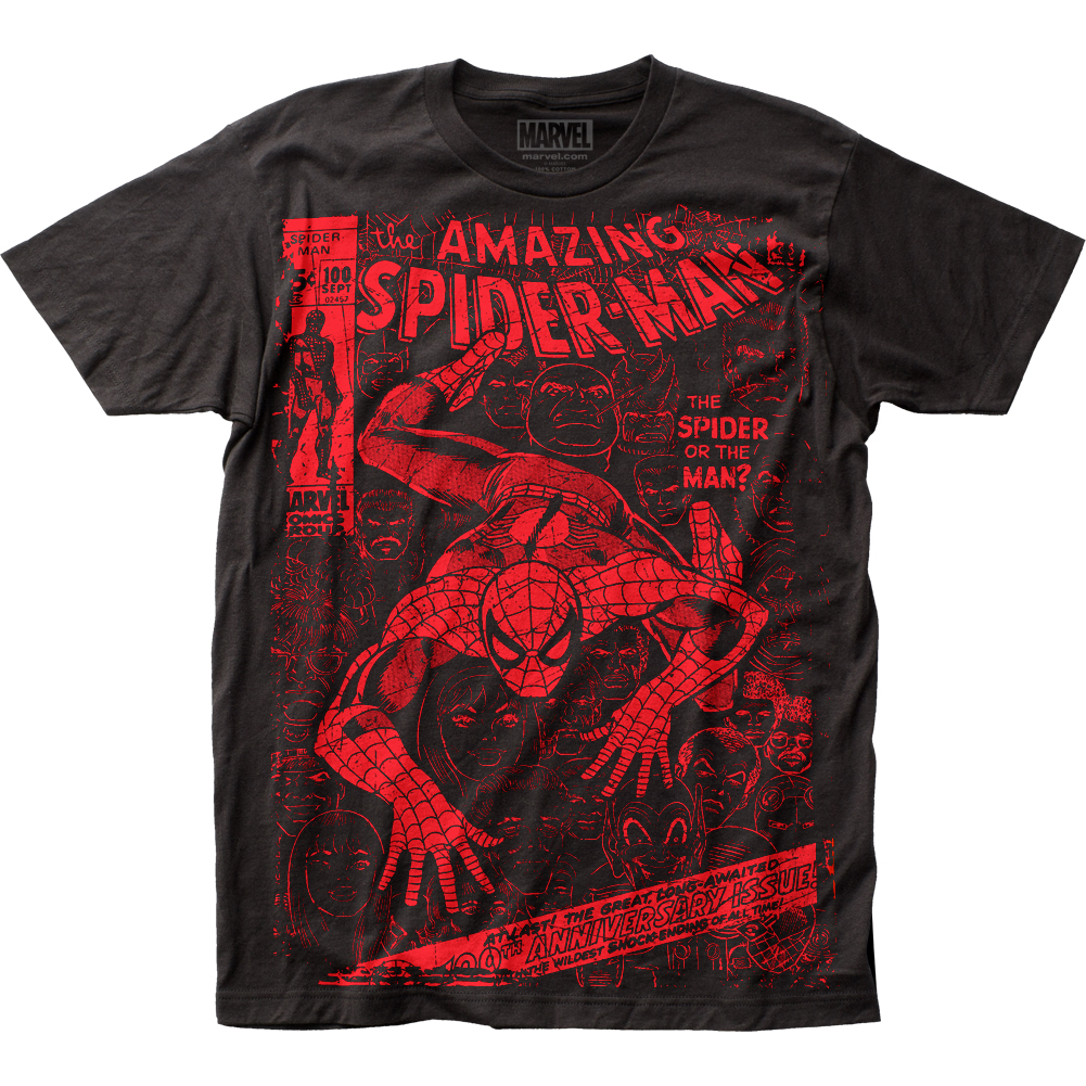 Spider-Man Men's  Spider Or The Man Subway T-shirt Black