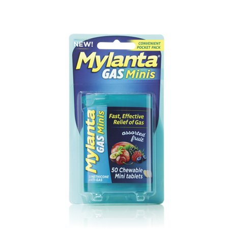 Mylanta Mini-Tabs Antacid, Assorted, 50 Ct