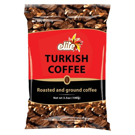 Elite Turkish Coffee Ground Roasted, 3.5 OZ
