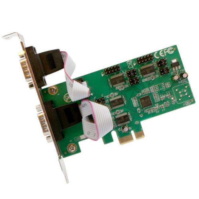 PCI Express 4 Port DB9 Serial Card 99100 LPB