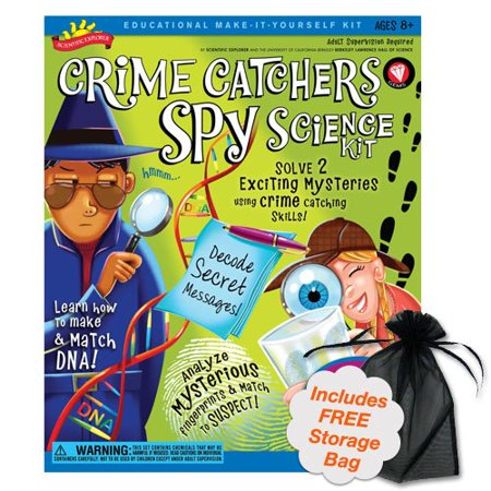 Spy Kits For Kids (Brybelly TPOO-37 Crime Catchers Spy Science Kit, Measure, test and match clues like a real criminal scientist By Poof)